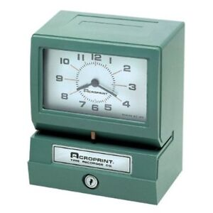 Acroprint Electric Print Heavy duty Standard Time Recorder 150nr4 01 2070 411