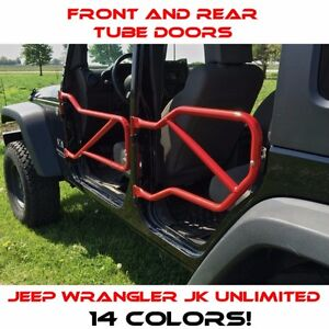 Steinjager Front And Rear Tube Doors For Jeep Wrangler Jku 2007 2018 14 Colors