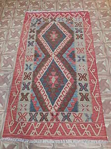 Small New Area Rugs Flatweave 4 X 6 Native American Inspired Tribal Kilim Rugs