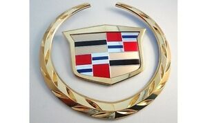 Cadillac Escalade 2007 2008 2009 2010 Grille Wreath Crest Emblem Gold Plated