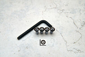 Anti Theft Black Nickel Security Screws For Bmw Rear License Plate Frame