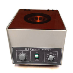 Electric Lab Centrifuge 80 2 Laboratory Medical Practice 4000rpm 12x20 Ml Rotor