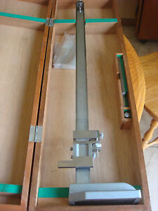 Mitutoyo 24 Vernier Height Gage P n 159 129 New