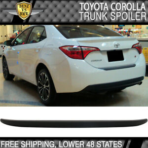 Usa Stock Fits 14 18 Toyota Corolla Oe Style Trunk Spoiler Matte Black Abs