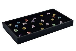 New 3 Plastic 72 Slot Velvet Ring Insert Jewelry Display Tray Holder Case