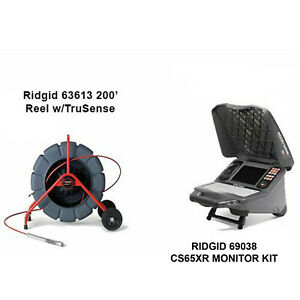 Ridgid 200 Color Reel 14053 Cs65x With Wifi 55978 With 2 Bats And Charger