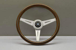 Nardi Classic Marine Wood Grain Steering Wheel Satin Spokes Horn 5051 36 6304