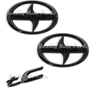 3 Pieces New Scion Tc Front Rear Gloss Black Badge Emblem 2011 2016 Tc F R Fgb