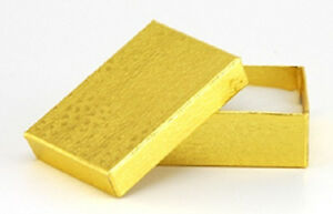 500 Gold Cotton Filled Jewelry Craft Gift Boxes 3x2