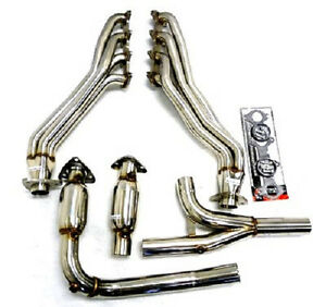 Obx Long Tube Exhaust Manifold Headers W Cats 04 08 Ford F 150 5 4l V8 4wd New