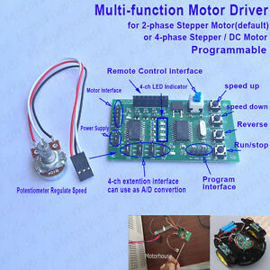 Multi function Programmable 2 4 Phase Stepper Motor Driver Control Board Module