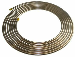 Copper Nickel Brake Fuel Line Tubing Kit 3 8 Od 25 Ft Coil Roll Inline Tube Cn6