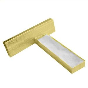 200 Gold Cotton Filled Jewelry Craft Gift Boxes 8