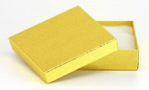 Wholesale 200 Gold Cotton Filled Jewelry Craft Gift Boxes 3 1 2