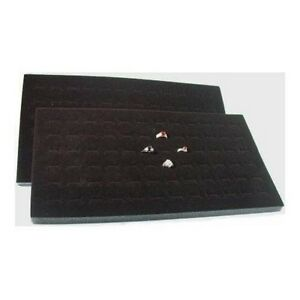 12 Black Foam 72 Ring Display Jewelry Insert Pad Black