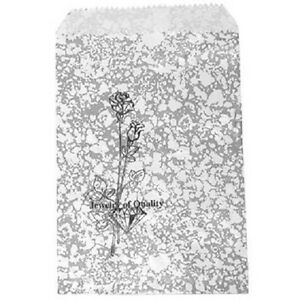 1000 Jewelry Paper Shopping Gift Bag 4x6 Silver Tone