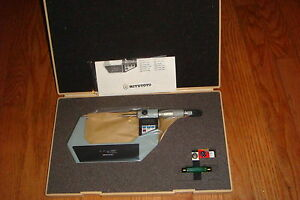 Mitutoyo 342 713 Digimatic Point Micrometer Inch Metric 2 3 New