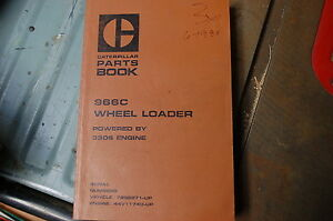 Cat Caterpillar 966c Wheel Loader Parts Manual Book 78g Front End Spare 1980 Oem