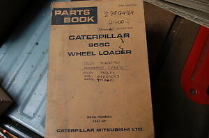 Cat Caterpillar 966c Wheel Loader Parts Manual Book 78g Front End Spare List Oem