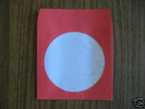 1000 5 Red Cd Dvd Paper Sleeve With Window Js201