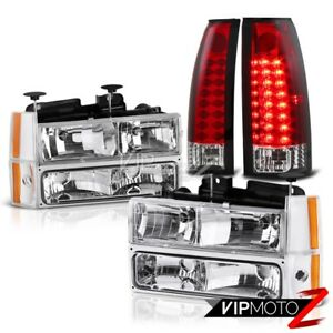 88 93 Chevy C10 Pick Up Truck Corner Bumper Led Clear Red Taillights Headlight