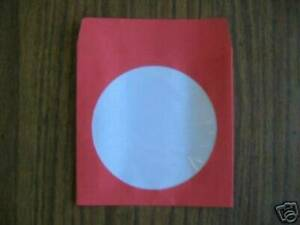 1000 Red Cd Dvd Paper Sleeve With Window Js201