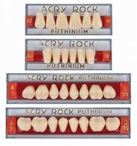 Lot 4 Teeth Set Of 28 Tooth Acrylic Dental Acryrock Dentures