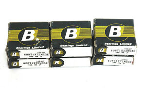 Lot Of 6 New Bearings Limited 608t1xzzmc3e Deep Groove Ball Bearings
