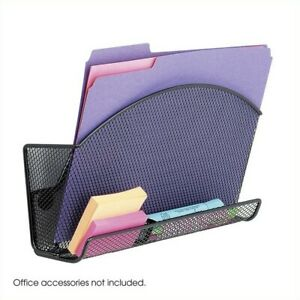 Safco Onyx Magnetic Mesh File Pocket With Accessory Organizer set Of 6