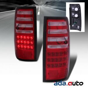 For 1991 1997 Toyota Land Cruiser factory Style Red Lens Led Tail Lights Set
