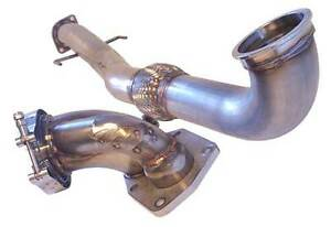 Map Stainless Steel Recirculated V Band Downpipe Mitsubishi Evolution Evo 8 9
