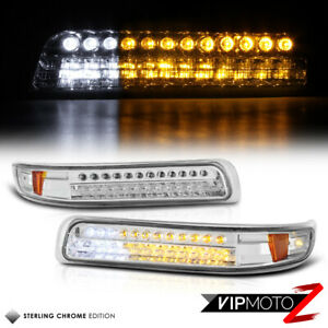 1999 02 Chevy Silverado Led Clear Front Bumper Parking Corner Lamp Signal Light