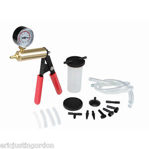 Universal Car Vehicle Brake Bleeder Vacuum Pump Tester Test Kit Free Shipping