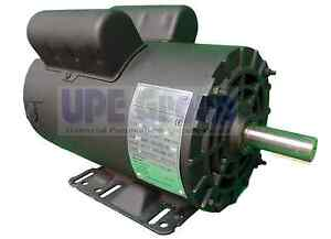 5 Hp Electric Motor 3450 Rpm Air Compressor 56 Frame 1 Phase 7 8 Shaft 230vac