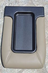 99 02 Silverado Sierra Tan Beige Center Console Storage Top Lid Armrest Cover
