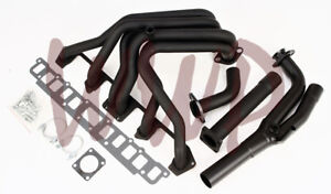 Performance Black Coated Exhaust Header Manifold 87 90 Jeep Wrangler 4 2l 6 Cyl