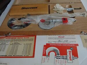Starrett S906m Metric 5pc Set 445m 230m 436m 823ma New In Wooden Case Never Used