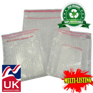 Strong Plain Clear Bubble Bags Pouches Peel Seel all Sizes qtys Best Prices