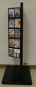 Retail Size Stand up Browsing Dvd movie game Locking Display Rack