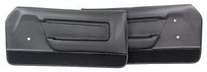 Mustang Door Panels Deluxe Pair 1971 1972 1973 Black
