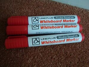 Red Whiteboard Marker Pens School Office