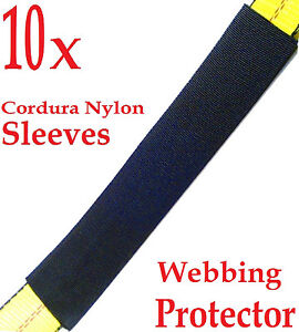 Ten 10x 12 Sliding Sleeve Webbing Web Protector For 2 Ratchet Tie Down Strap