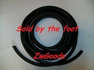 1 8 I d X 1 8 W X 3 8 O d By The Foot Surgical Latex Rubber Tubing Black
