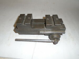 Machinist Tools Lathe Machinist Double Block Jewelers Lathe Cross Slide Rare