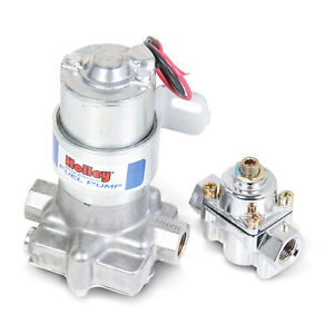 Holley 12 802 1 Blue Electric Fuel Pump Pres Reg 110 Gph 14 Psi 3 8npt In Out