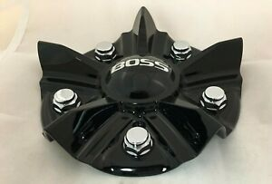 Boss Motorsports Gloss Shiny Black 348 Wheel Rim Center Cap Acc 3314 02 Screw On