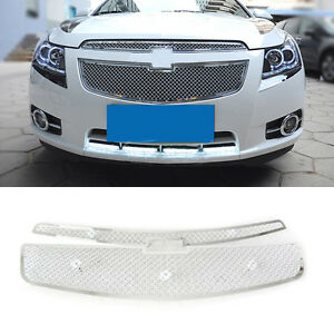 For Chevrolet Cruze 2009 14 Stainless Honeycomb Grill Front Bumper Vent Trim