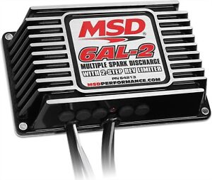 Msd 64213 6al 2 Multiple Spark Ignition Controller Box With 2 Step Rev Limiter