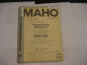 Maho Philips Cnc 3300 Series 3360 432 Programming Manual Free Shipping