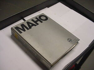 Maho Mh600c Mh 600 C Technical Documentation 76 26102 Manual Free Shipping
